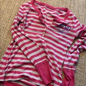 Pink stripes long sleeved shirt!